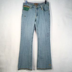 LUXIRIE | 6 Pocket High Rise Flare Leg Unique Jean